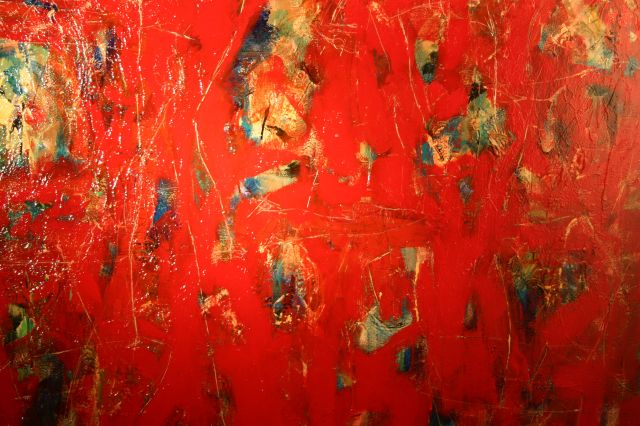 Untitled (Abstract Red Painting)