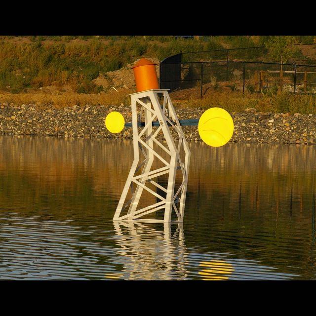 Untitled (Aqua Golf)