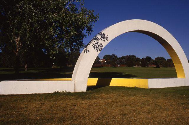 Untitled (Yellow Semi-circle)