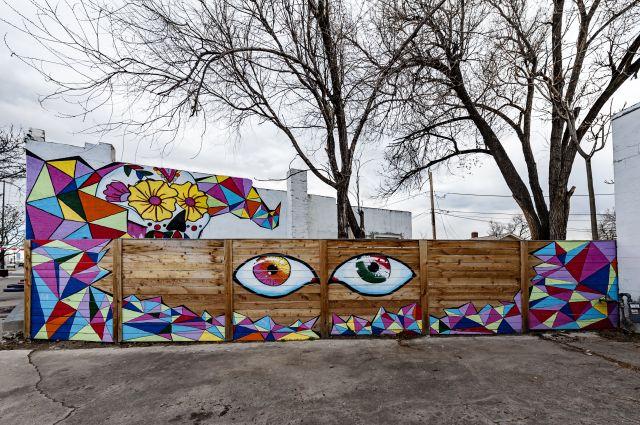 Untitled (Día de los Muertos sugar skull,  two large eyes)