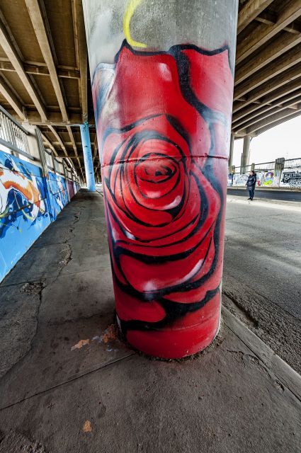 Untitled (red rose on column)