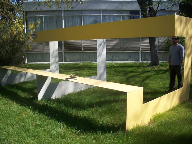 Untitled (Yellow Bench)