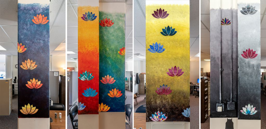 Go to the Untitled (colorful  columns inside offices) page