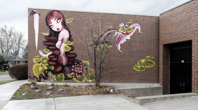 Untitled (abstract female mermaid)