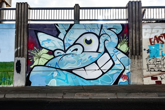 Untitled (blue gorilla face)