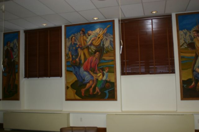 Untitled (murals in Council Chambers)