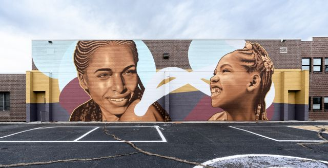 Untitled (African American mother and daughter)